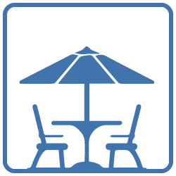 Outdoor dining (Table, chairs BBQ)
